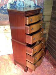209.....Vintage Reprodux Mahogany Chest On Chest / Tallboy Chest
