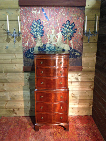 208.....Vintage Reprodux Mahogany Chest On Chest / Tallboy Chest ( SOLD )