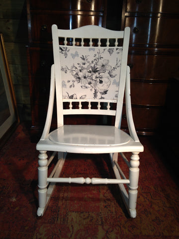 205.....Antique Rocking Chair / Upcycled Rocking Nursing Chair
