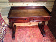 202.....Antique William Iv Mahogany Writing Table / Antique Hall Table