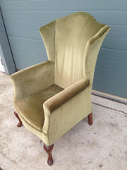 Vintage Wing Armchair / Vintage Library Chair