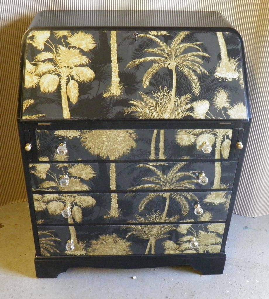 Upcycled Art Deco Style Writing Bureau Ipplepen Interiors