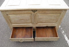 18th Century Bleached Oak Mule Chest Coffer