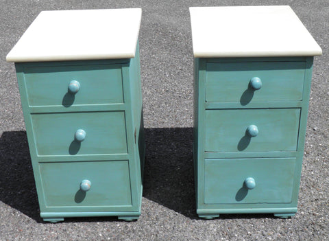 A Pair Of Mid 19th Century Upcycled Bedside Cabinets