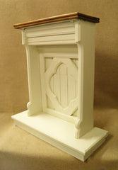 A Reclaimed Gothic Design Pitch Pine Faux Fire Place or Hall Table