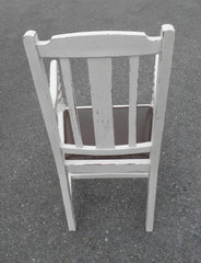 A Pair Of Vintage Shabby Chic Oak Carver Chairs.
