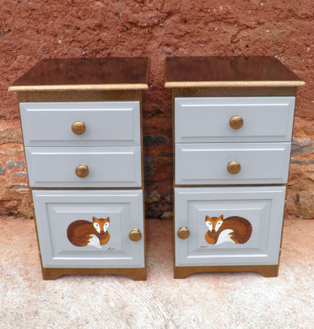 A Pair Of Upcycled Bedside Cabinets