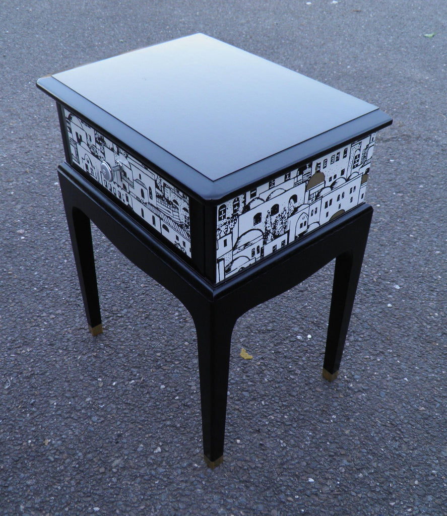 Pair Of Vintage Bedside Tables With Fabulous Fornasetti Decoration ...