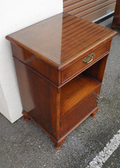 A Pair Of Vintage Walnut Bedside Cupboards