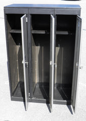 Vintage Industrial Style Triple Locker