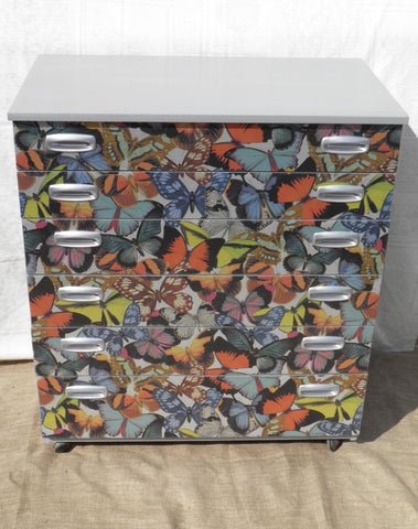 Attractive Upcycled Vintage Retro Schreiber Chest Of Drawers