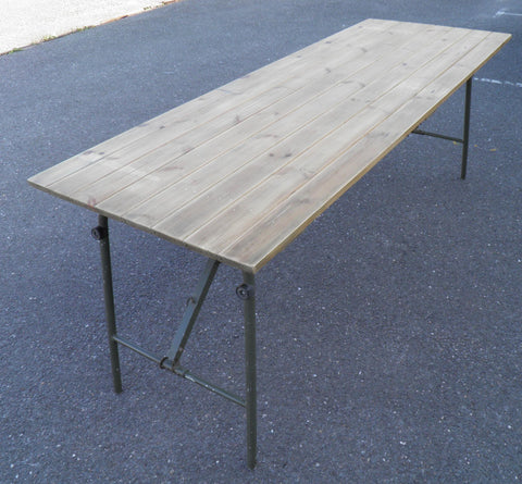 Upcycled Pine Industrial Style Trestle Dining Table / Desk
