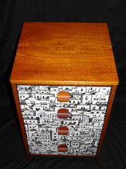 VINTAGE RETRO CHEST WITH FABULOUS FORNASETTI DECORATION