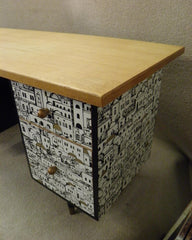 Retro Meredew Upcycled Desk / Retro Office Desk