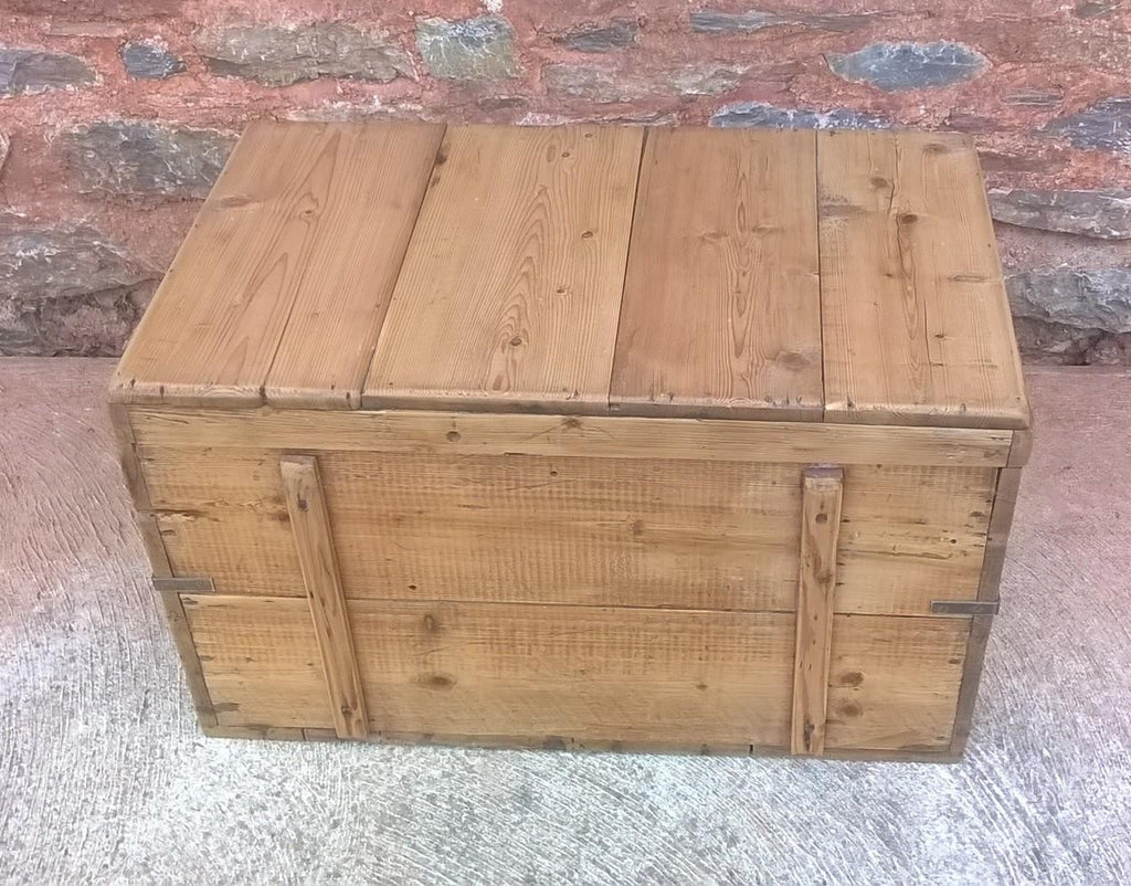 Vintage Pine Trunk / Blanket Box