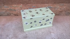 147...Vintage Heavy Pine Travel Trunk / Storage Chest