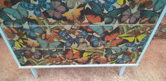 Vintage Retro Upcycled Chest Of Drawers