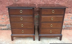 "A Pair Of Vintage ""Stag Minstrel"" Bedside Chests"