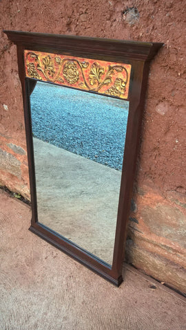 112...Carved Oak Mirror