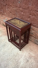 Gorgeous Oriental Nest Of 4 Tables