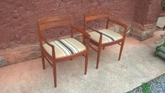 Pair Of Retro Danish Carver Chairs