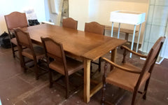 Vintage Solid Oak Refectory Table Arts And Crafts Style