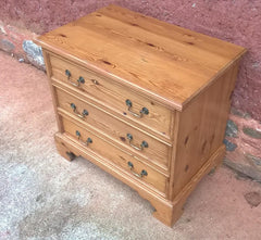 156...Vintage Solid Pine Chest Of Drawers