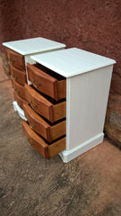 Pair Of Vintage Pine Bedside Chests / Bedside Cabinets