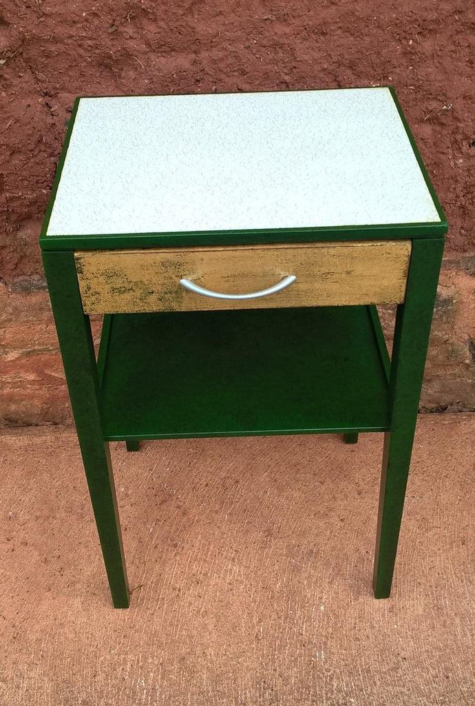 Retro Style Container Bedside Table: Pair Of Retro Bedside Tables Or Lamp Tables