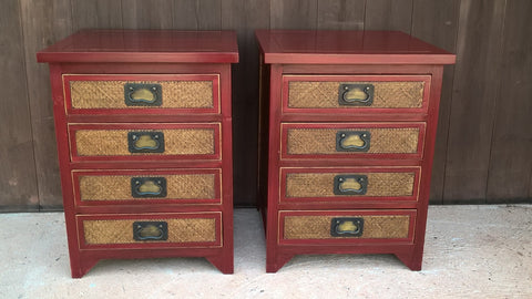 183......Pair Of Bedside Chests