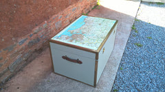 Vintage Travel Trunk / Storage Chest / Coffee Table