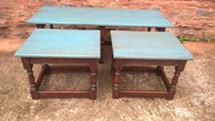 186.....Vintage Long John Nest Of Tables Reprodux