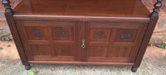 Handsome Arts and Crafts Solid Walnut Buffet / Serving Table
