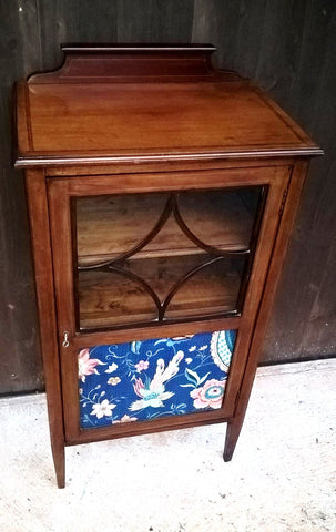 199.....Attractive Vintage Upcycled Mahogany Music Cabinet