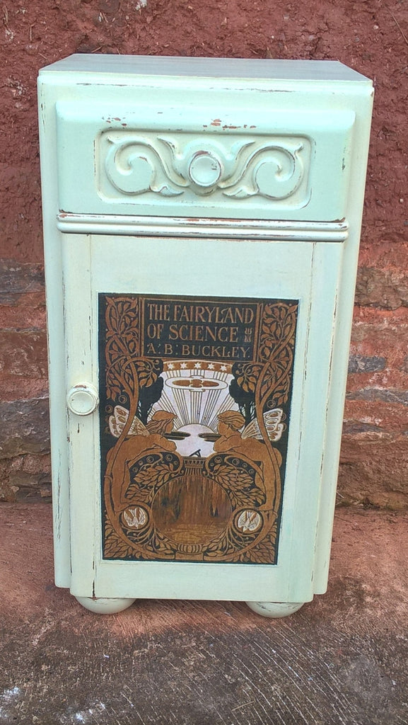 Beautifully  Upcycled Vintage Bedside Cabinet - Pot Cupboard - Lamp Table