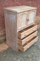 208.....Gorgeous Vintage Limed Oak Art Deco Tallboy - Drinks Cabinet ?