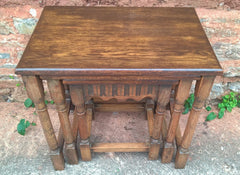 Oak Nest Of Tables / Superior Quality Solid Oak / Old Charm Style