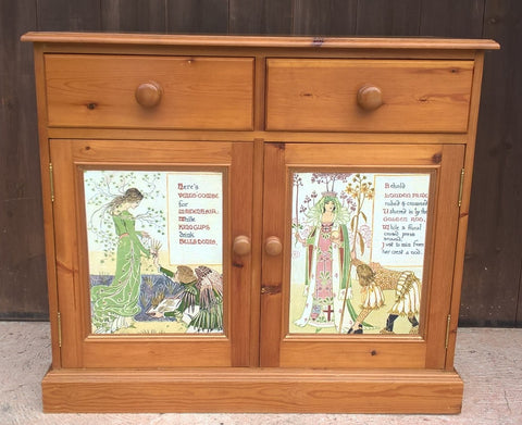 227.....Vintage Pine Sideboard / Drinks Cabinet / Media Cabinet