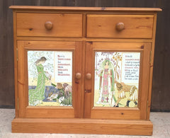 Vintage Pine Sideboard / Drinks Cabinet / Media Cabinet