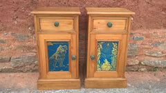 Bedside Cabinets, A Stunning Pair Of Pine Bedside Tables