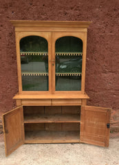 Gorgeous Antique Pine Glazed Dresser / Country Pine Bookcase