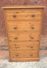 Good Quality Solid Pine Tallboy Chest Of Drawers