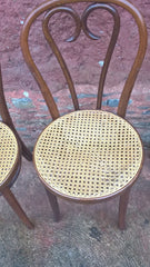 251.....A SET OF FOUR PRETTY BENTWOOD BISTRO CHAIRS / KITCHEN CHAIRS
