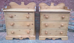 A Pair Of Gorgeous Pine Bedside Chests / Pair Vintage Pine Bedside Cabinets