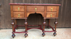 259....Stunning Vintage Desk / Jacobean Style Oak Desk / Jacobean Style Dressing Table