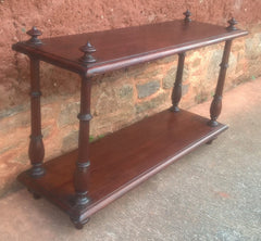 Antique Mahogany Display Shelf