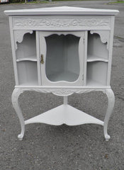 EDWARDIAN CARVED CORNER CABINET