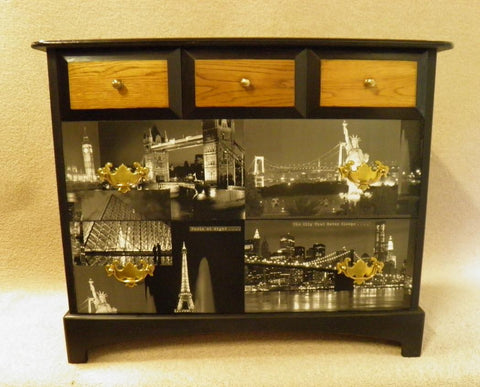 157...VINTAGE STAG CHEST OF DRAWERS