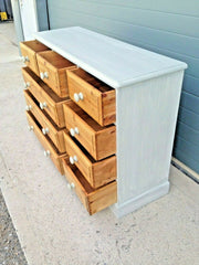 229.....Vintage Pine Chest / Rustic Pine Bank Of Drawers