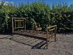 186.....Lovely Vintage Brass Bed